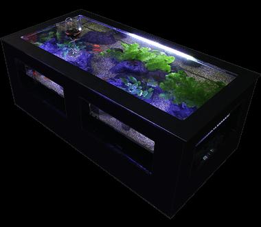 バーズアイ 水槽 テーブル レクタングラ ブラック BEA-SQU-1206-B