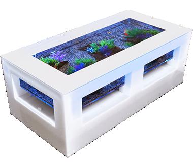 バーズアイ 水槽 テーブル レクタングラ ホワイト BEA-SQU-1206-W
