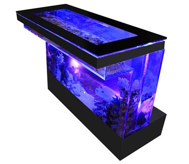 バーズアイ 水槽 テーブル バーカウンター ブラック BEA-COU-1506-B