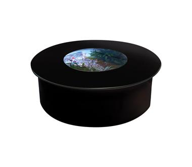 バーズアイ 水槽 テーブル ラウンド ホワイト BEA-ROU-0707-B