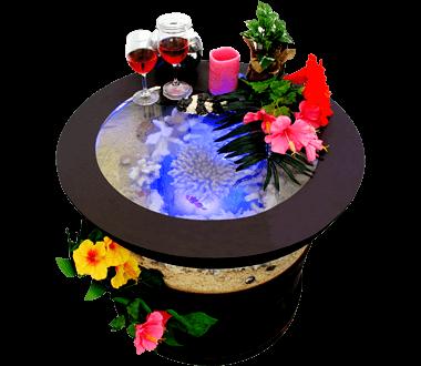 バーズアイ 水槽 テーブル ラウンド ブラック BEA-ROU-0707-B